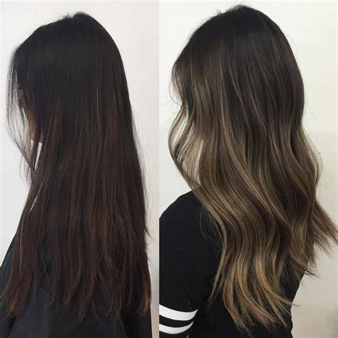 how to do ash ombre highlight on short hair 347 best images about balayage for brunettes on pinterest