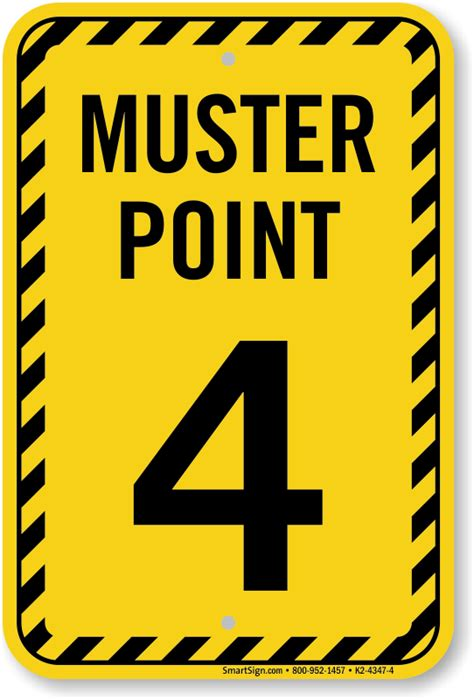 Muster Point Muster Point Number Four Sign Sku K2 4347 4