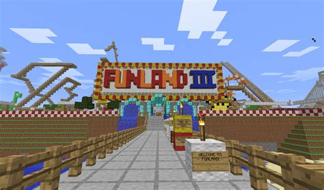 theme park names minecraft funland amusement park 1 map adventure minecraft