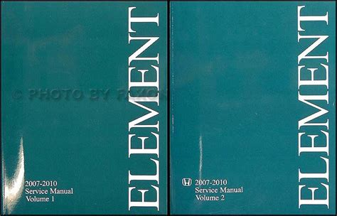 free car repair manuals 2007 honda element user handbook 2007 2010 honda element repair shop manual original