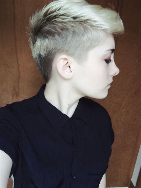 how do u cut shaved sides haircut side shave coiffures pinterest side shave for women