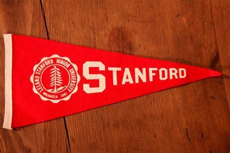 stanford school colors vintage 8 5 quot stanford pennant flag leland