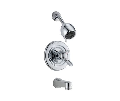 Bath Shower Faucets delta innovation thermostatic bath shower faucet in chrome