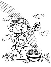 leprechaun coloring page kcif kid s club leprechaun day