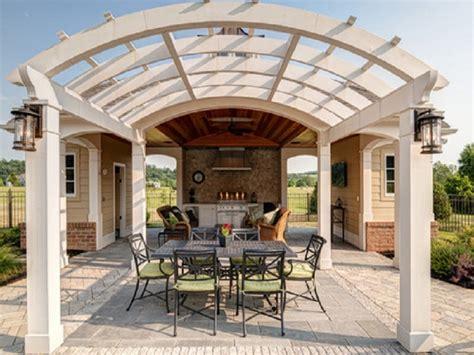 paver deck ideas arched pergola design ideas pergola