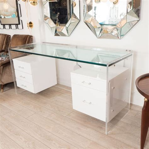 White Lacquer Bedroom Furniture best 25 glass desk ideas on pinterest glass office desk