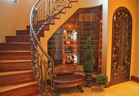 under stairs wine cellar love glassed in wine cellar under stairs with decorative