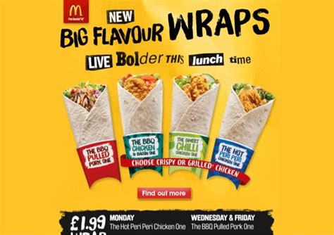 Mcd Burger Peri Peri mcdonald s big flavour wraps wrap of the day at mcdonald s