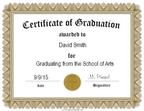 Graduation Certificate Templates Certificate Templates Free Graduation Certificate Template