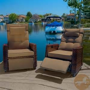 Outdoor Patio Recliner by Christopher Knight Home Outdoor Brown Wicker Recliners