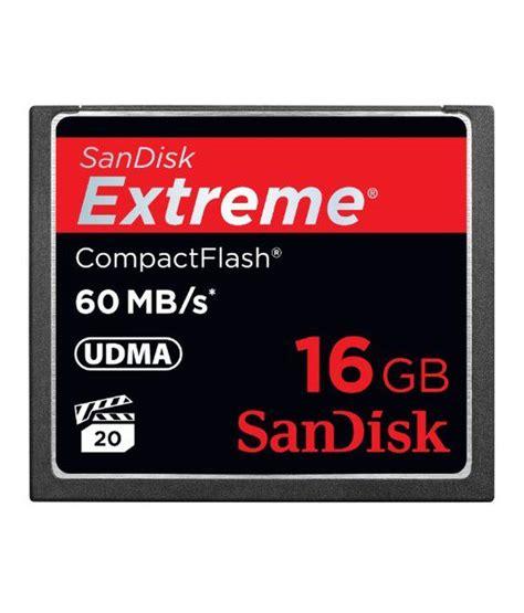 sandisk ultra cf memory card 16 gb sandisk compactflash 16 gb memory card 60mb s