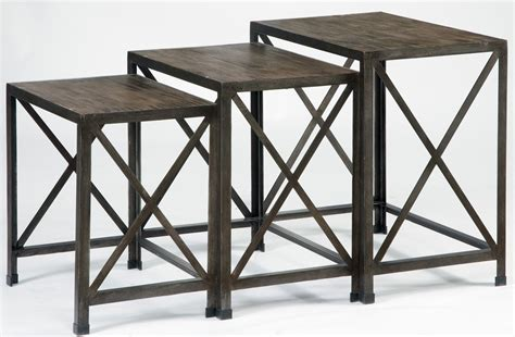 Rustic Nesting Tables by Rustic Accents Nesting End Tables T500 716 Furniture