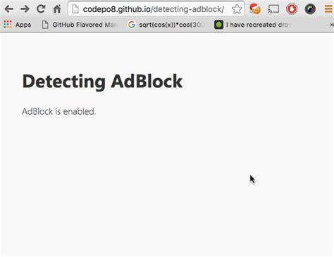 test adblock detecting adblock without an http overhead