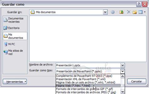guardar imagenes en web aprendiendo powerpoint com como guardar una presentaci 243 n