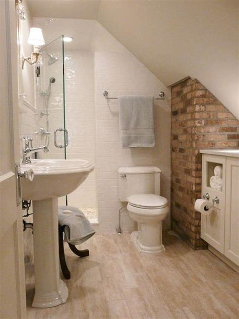 tiny bathroom ideas that are cozy roomy and functional 1000 ideas about brick bathroom on pinterest exposed