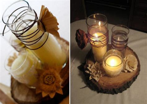 Merry Brides Rustic Chic Wedding Inspirations With Wood Wood Centerpieces For Tables