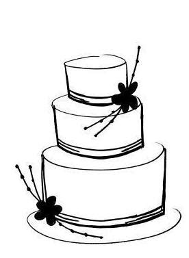 wedding cake clipart black and white free download best