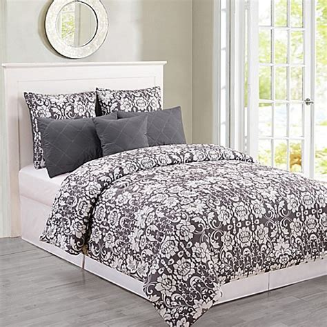 oversized queen comforters buy kensie lola oversized queen comforter set in dark grey