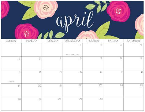 cute april  calendar design printable  notes