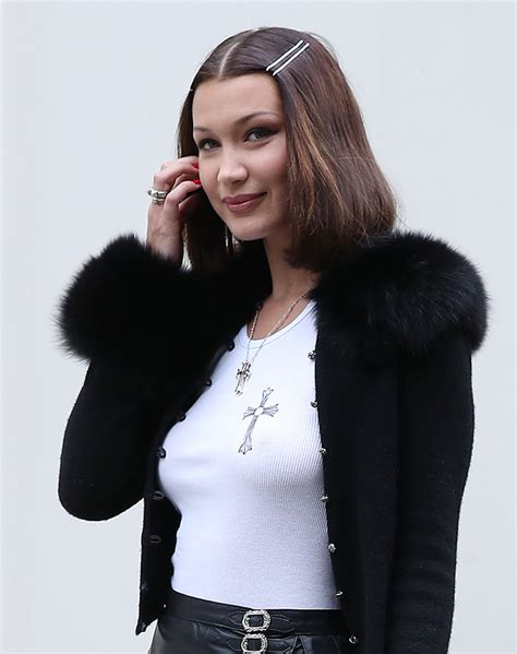 bella hadid you need to see bella hadid s 90s hairstyle stylecaster