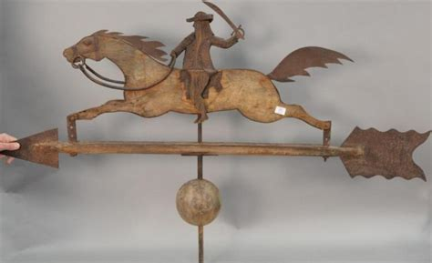 metal weathervane and decorative wooden window primitive style weathervane horse and rider wood and metal