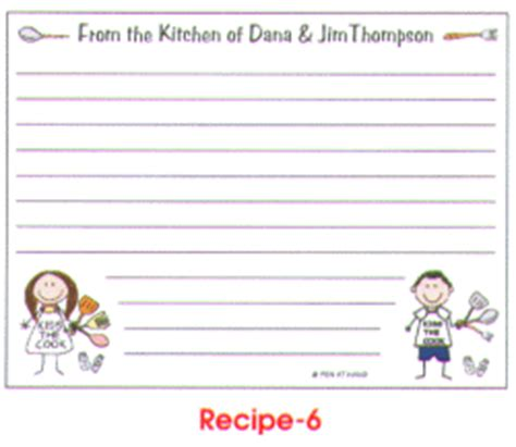 make your own recipe cards recipe cards by the personal note use our logo sets and