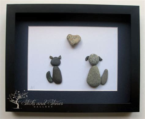 unique gifts home decor personalized animal lover gifts animal themed pebble art pebble art pets u marushis