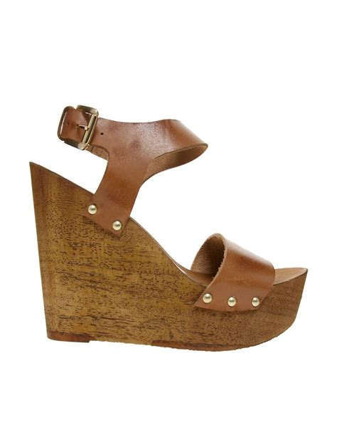 Crisco Leather Wedges At Faith by Object Moved