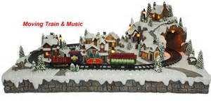 Train Christmas Ornaments - christmas village moving train 600422 christmas festivities