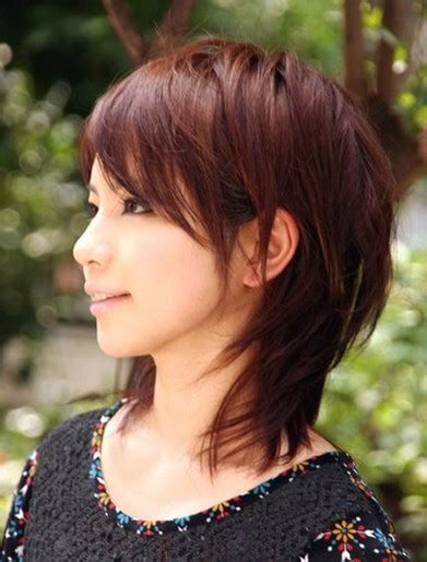 mid length hairstyles for asian women asian medium layered hair with long side bangs
