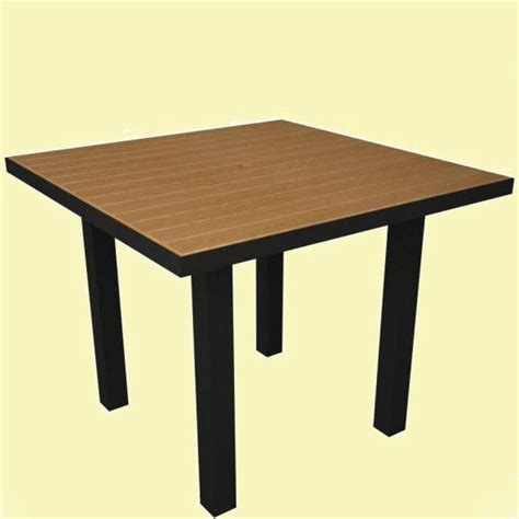36 inch square table polywood at36 plastique 36in square table recycled