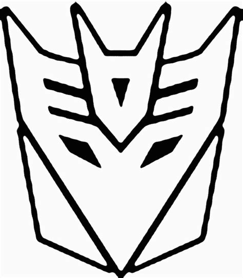 transformers logo coloring pages logo transformer clipart best