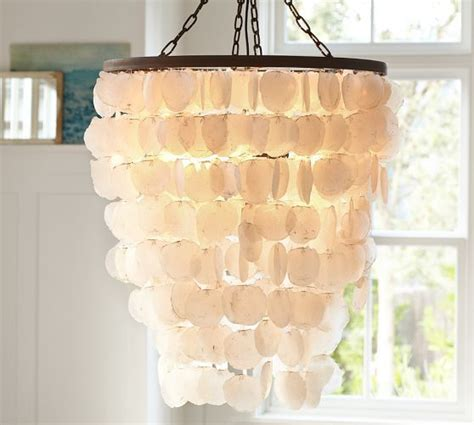 capiz chandelier large pottery barn for the home