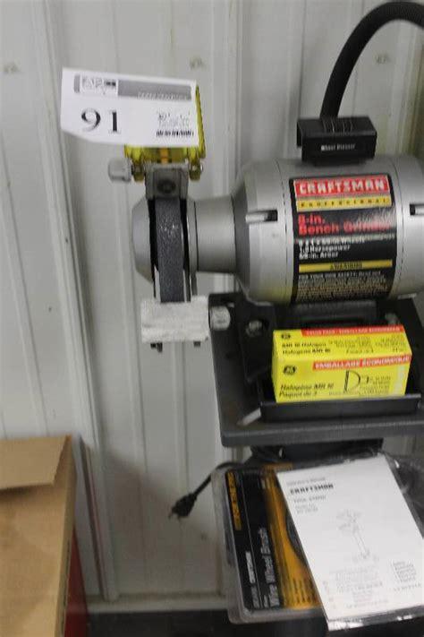 craftsman bench grinder stand craftsman professional 8 bench grinder w stand wheels