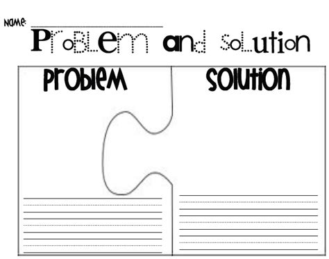 it solution template problem and solution graphic organizer template