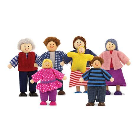 melissa and doug dolls house uk doll family 7 wooden dolls set educational toys planet
