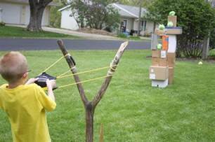 Backyard Wiffle Ball Games How To Build A Water Balloon Slingshot Woodworking