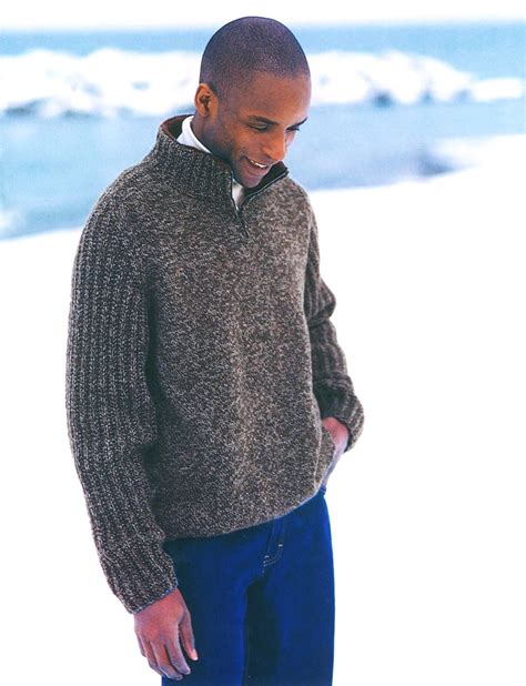 knitting pattern mens zip cardigan zip neck saddle shoulder pattern yarnspirations