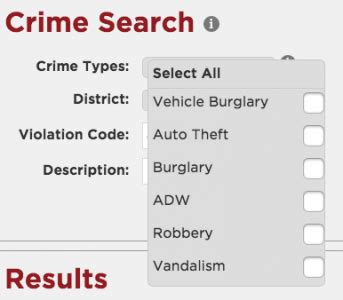 Crime Search Address New Features For Crime Analysts Predpol