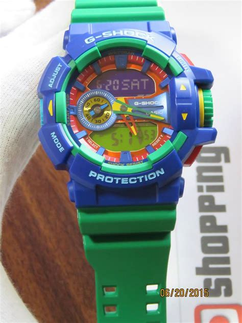 G Shock Collour live photos g shock ga 400 2a hyper color blue x green