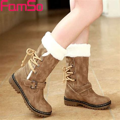 shoes for in winter free shipping 2016 winter snow boots buckle thick