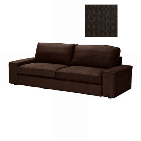 ikea kivik sofa bed slipcover cover tullinge brown