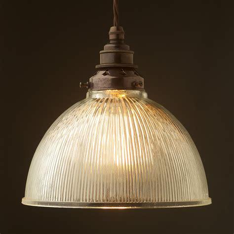 Glass Dome Pendant Light Ribbed Glass Dome Pendant