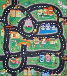 childs rug with roads childrens boys car road play mat roll up bithday