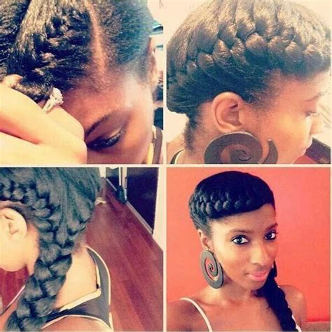 black hair styles for for side frence braids cornrow ponytail hairstyles hair care pinterest