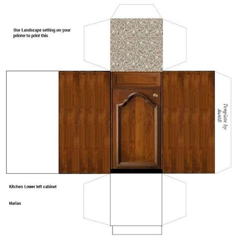 114 Best Dolls House Printables Kitchens White Goods Images On Pinterest Doll Houses Cabinet Paper Template