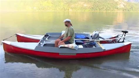 catamaran electric motor electric canoe catamaran youtube
