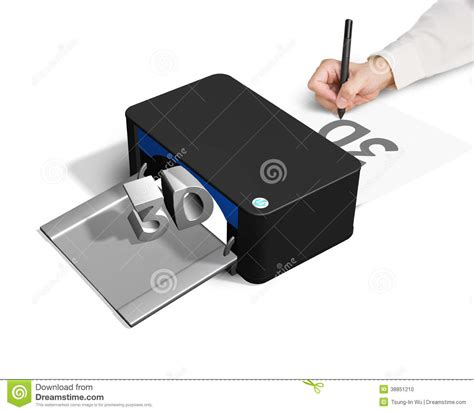 2d print 3d printer concept for 2d drawing stock photo image