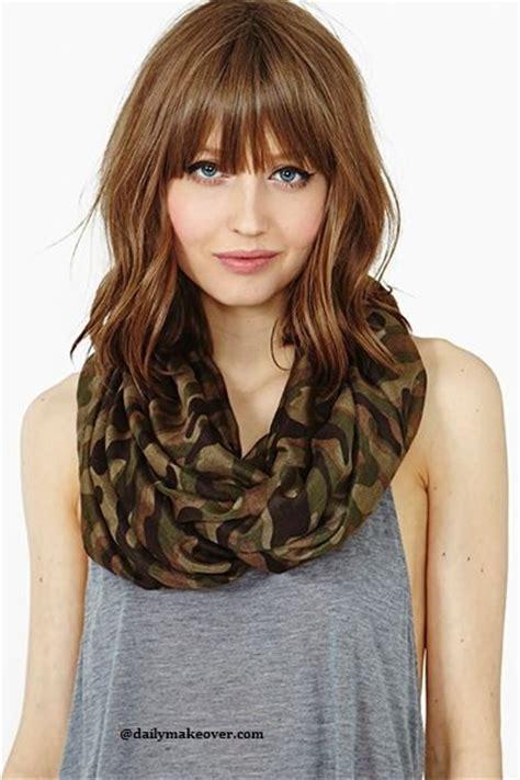 cute shoulder length haircuts longer in front and shorter in back 30 styles magnifiques de coiffures avec frange la preuve