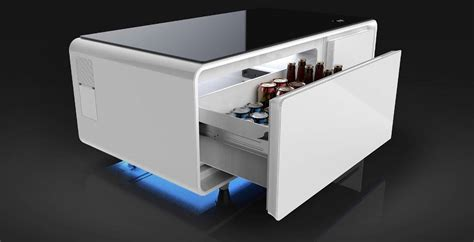 coffee table with refrigerator the sobro a coffee table that is part fridge part smart